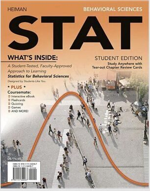 Statistics for Behavioural Sciences - Behavior Sciences STAT, 4LTR Press - Heiman Heiman, Gary
