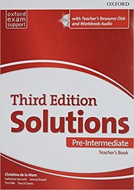 SOLUTIONS 3ED PRE-INT TB & TEACH.RES.CD-ROM PACK