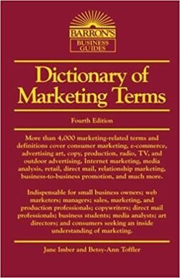 Dictionary of Marketing Terms  5e